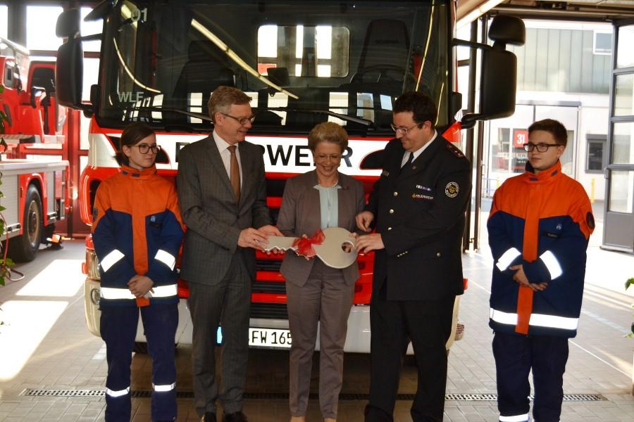 Übergabe Wechselladerfahrzeug für die Abteilung Freiwillige Feuerwehr Stadtmitte
