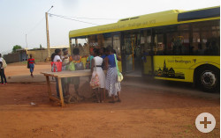 Der Reutlinger Bus in Bouaké