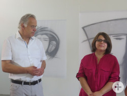 Judit Cselle mit Kulturamtsleiter Dr. Werner Ströbele