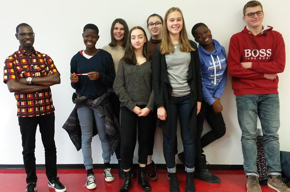 Schüler aus Bouaké am Johannes-Kepler-Gymnasium