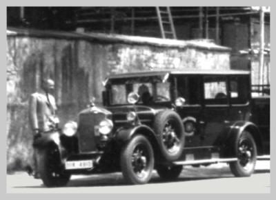 Stabswagen der Feuerwehr Reutlingen es handelt um ein Fahrzeug Baujahr 1934