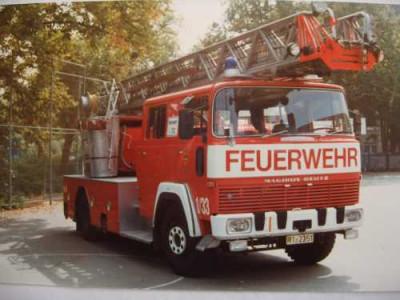 Drehleiter der Feuerwehr Reutlingen es handelt sich um einen alten Magirus Baujahr 1974