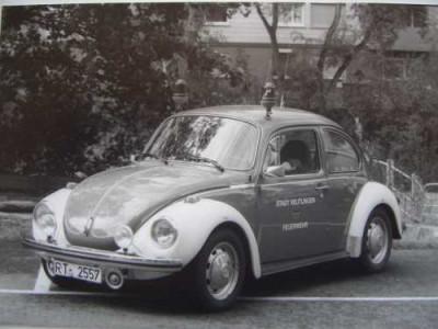Einsatzleitwagen der Feuerwehr Reutlingen es handelt sich um einen alten Volkswagen Käfer