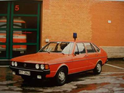 Einsatzleitwagen der Feuerwehr Reutlingen es handelt sich um einen alten Audi 80