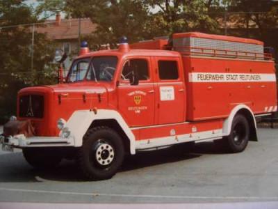 Ein alter Gerätewagen Öl der Feuerwehr Reutlingen