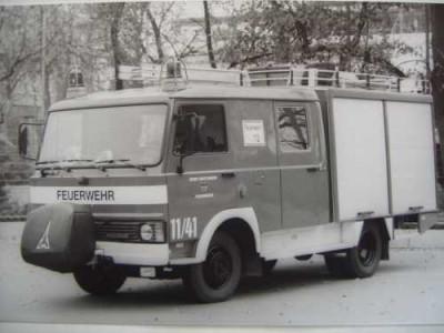 Ein altes Löschgruppenfahrzeug der Feuerwehr Reutlingen Magirus
