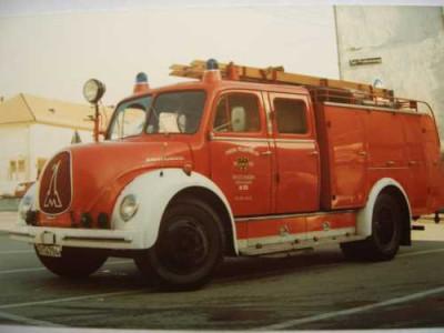 Ein altes Tanklöschfahrzueg der Feuerwehr Reutlingen Magirus Rundhauber