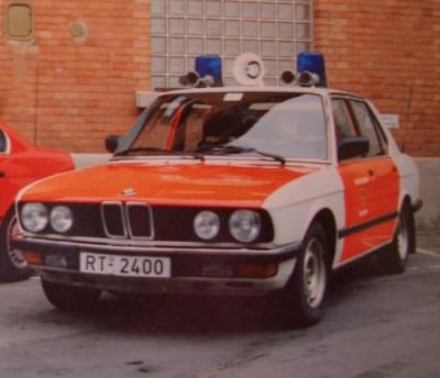 alter Kommandowagen der Reutlinger Feuerwehr, es handelt sich um einen BMW