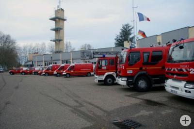 hier sehen Sie den Fuhrpark der Feuerwehr Roanne