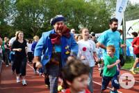 Läufer beim Spendenmarathon