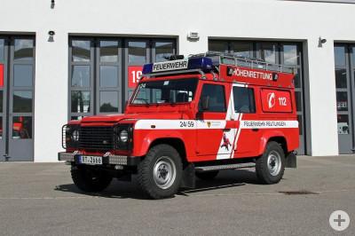 Gerätewagen Höhenrettung Fahrgestell Defender