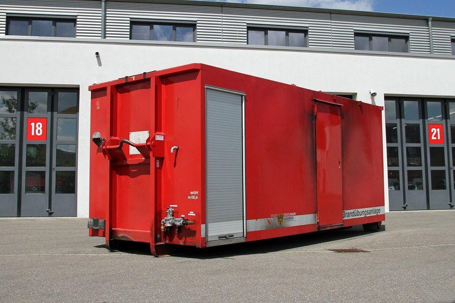 Abrollbehälter Brandübungsanlage