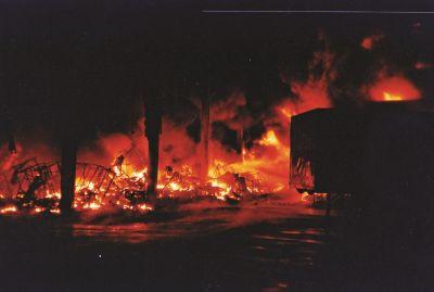 Großbrand bei der Firma Reiff