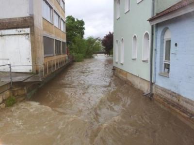 Hochwasser in Betzingen