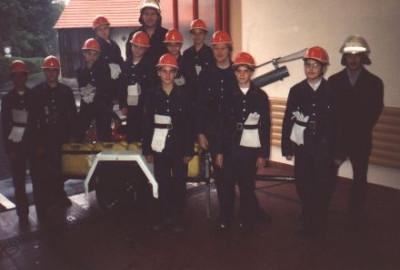 Grundungsgruppe der Jugendgruppe Betzingen