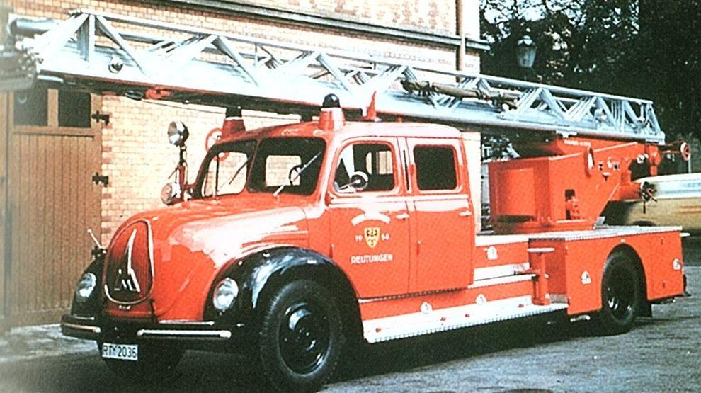 Drehleiter DLL 30 Magirus, Baujahr 1958