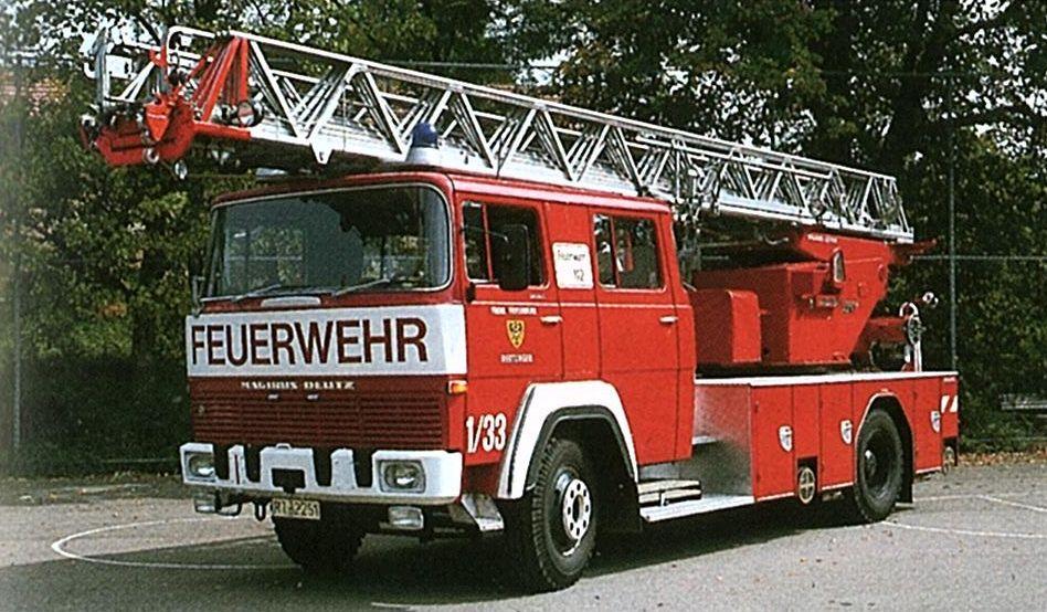 Drehleiter DL 30h Magirus, Baujahr 1970