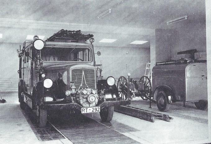 Das alte LöschfahrzeugLF 15 TS, Baujahr 1939