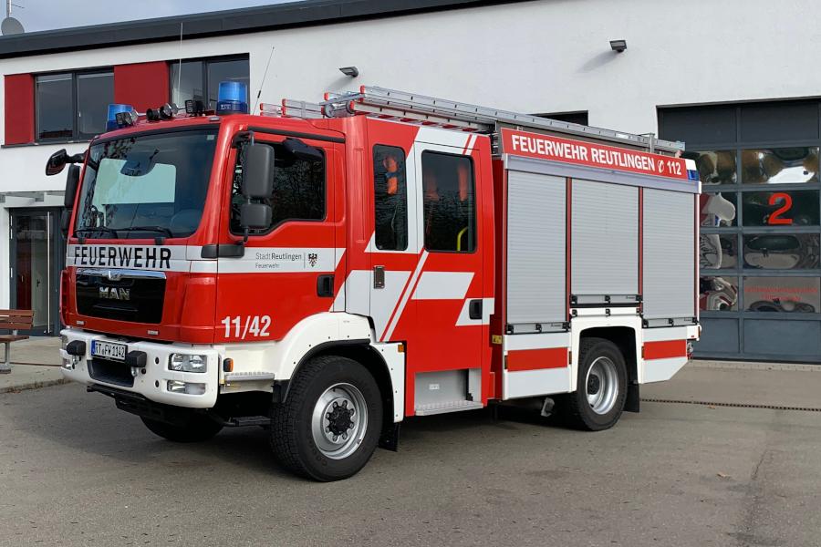 Löschgruppenfahrzeug 10 mit dem Funkrufnamen 11/42 der Feuerwehr Sickenhausen.