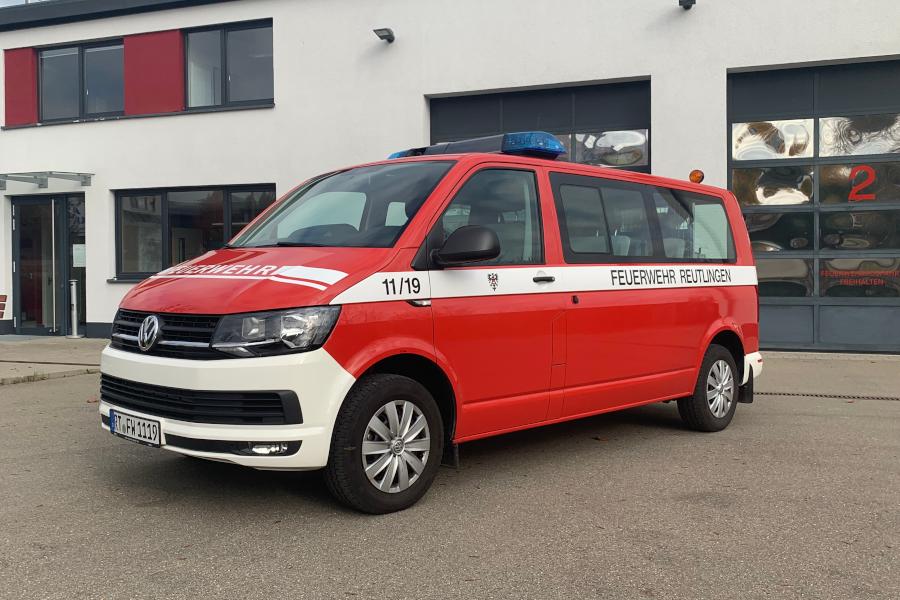 Mannschaftstransportwagen mit dem Funkrufnamen 11/19 der Feuerwehr Sickenhausen.