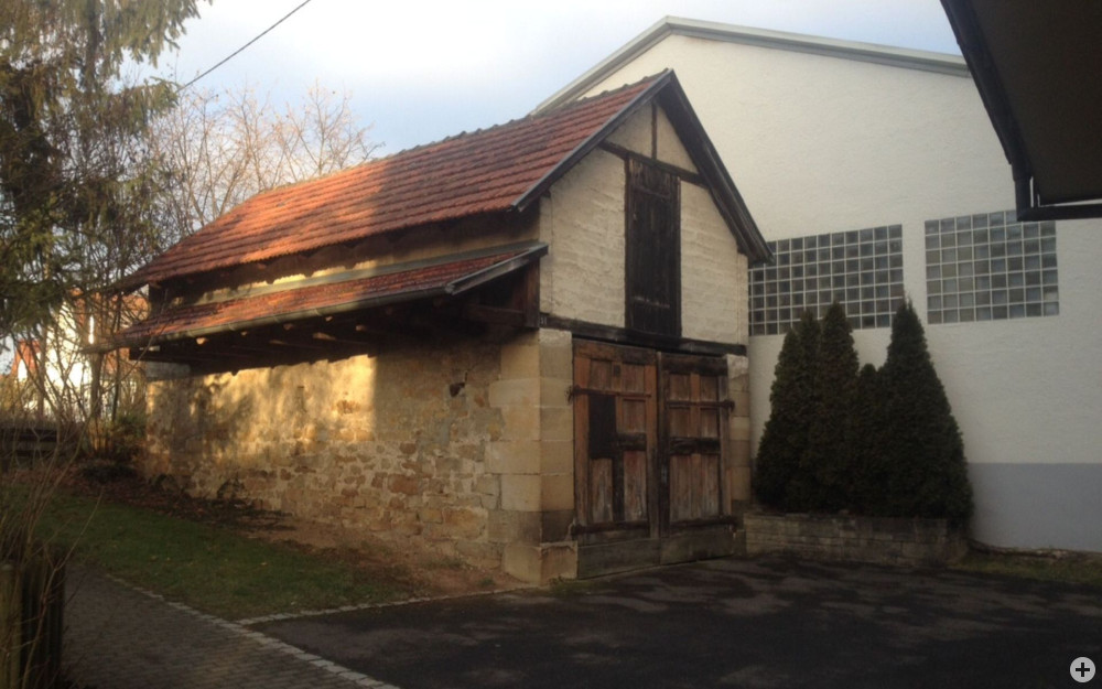 Bild des 1. Gerätehaus - Schuppen hinter Kirche