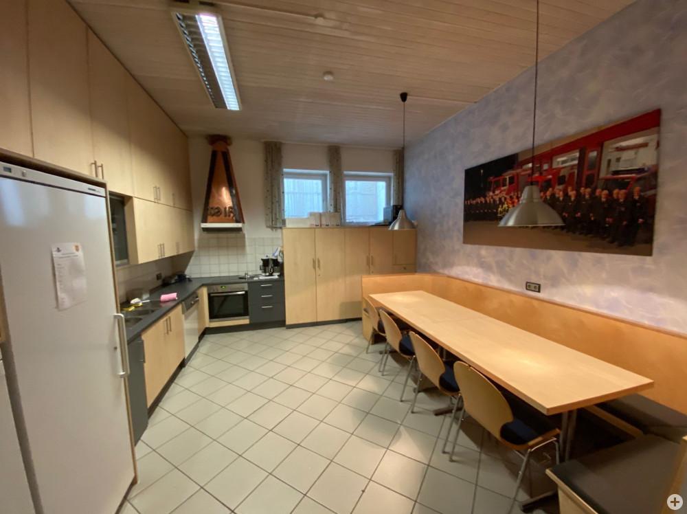 Innenansicht Küche mit Eckbank