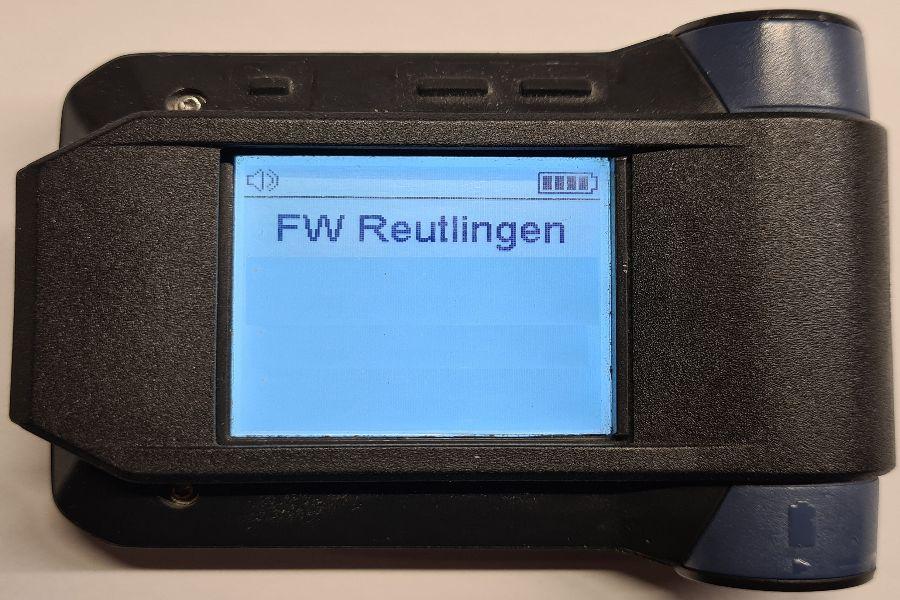 Digitaler Funkmelder der Feuerwehr Reutlingen