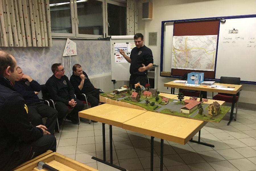 Planspielübung der Führungskräfte der Feuerwehr Rommelsbach