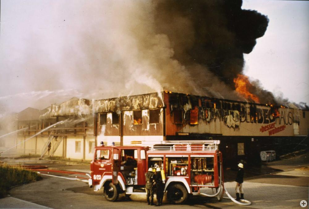 Bild Großbrand Firma Ibeo im Jahr 1983