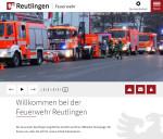 Startseite der neuen Internetseite der Feuerwehr Reutlingen