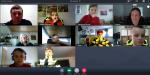 Hier sehen sie die Teilnehmer des Online Dienstes der Kinderfeuerwehr Sondelfingen