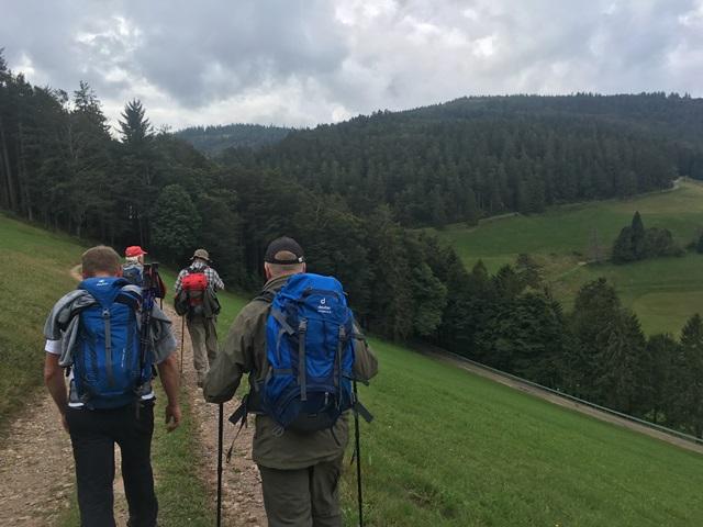 Abteilung Rommelsbach bei der Wanderung