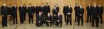 Das Bild zeigt die beförderten und geehrten Mitgliedern der Einsatzabteilung zusammen mit den vertretern der Feuerwehrführung