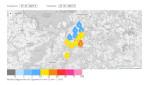 Kartendarstellung der Regenmessdaten für das Stadtgebiet Reutlingen