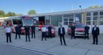 Die Teileinheit der Feuerwehr Reutlingen wurde am Sonntagmorgen von Herrn Oberbürgermeister Thomas Keck und Finanzbürgermeister Alexander Kreher im Hof der Feuerwache verabschiedet.