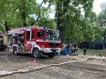 Hochwasserzug Reutlingen-Stadt im Einsatz