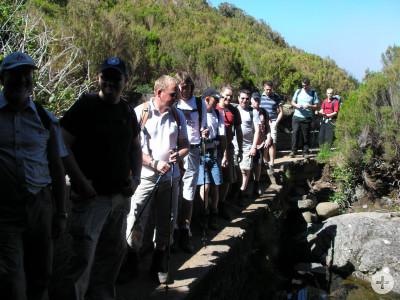 Wandergruppe bei der Wanderung