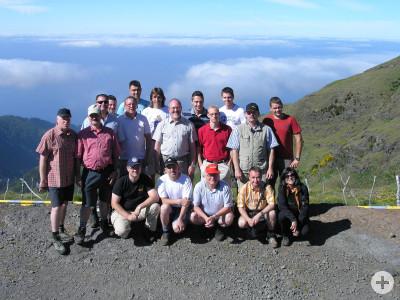Gruppenbild auf einer Anhöhe auf Madeira