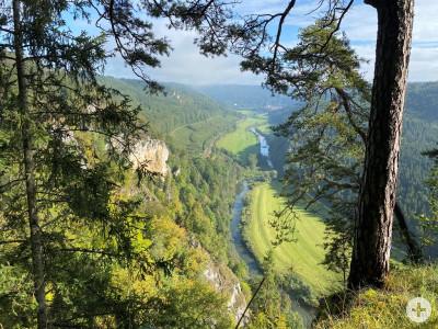 Blick hinunter ins Dnautal beim Donaudurchbruch