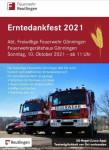 Plakat Erntedankfest der Abteilung Gönningen