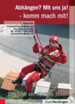 Werbeposter der Höhenrettungsgruppe