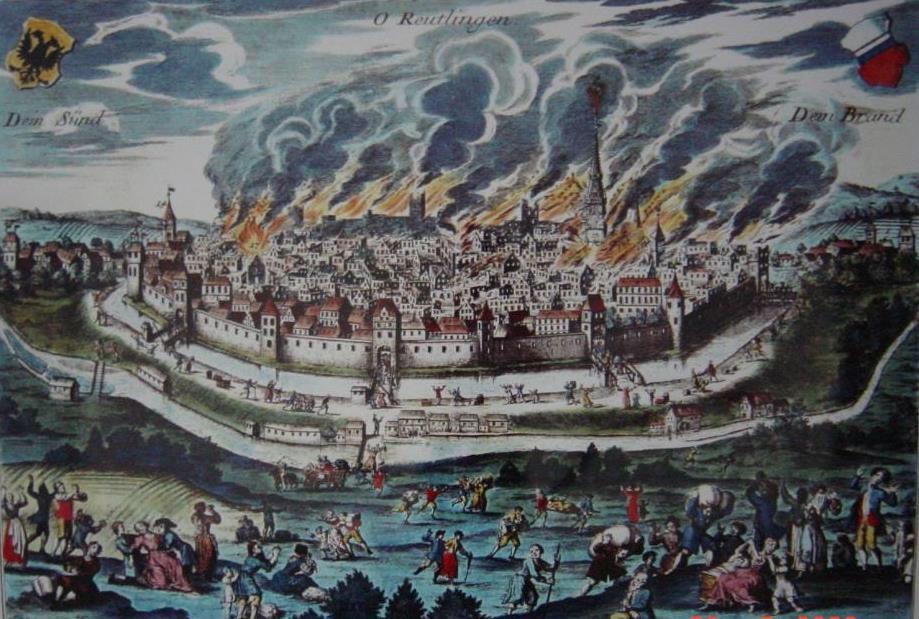 Der Reutlinger Stadtbrand