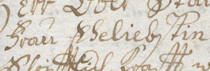 """Sprachgebrauch im Wandel: Die Bezeichnung """"Frau Eheliebstin"""" für die Ehefrau, hier ein Amtsbucheintrag von 1778, ist antiquiert. StadtA Rt., Heiligenpflege H 18, S. 266"""