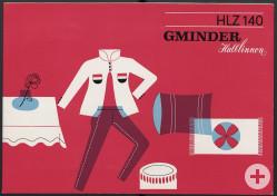 Werbematerial für Gminder-Halblinnen, 1960er Jahre