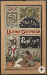 Preisliste der Firma Ulrich Gminder aus dem Jahr 1892
