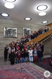 Die Gruppe der Lehrer und Schüler aus Roanne und Reutlingen