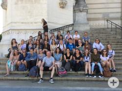 Die Sängerinnen und Sänger des Johannes-Kepler-Gymnasiums in Lyon