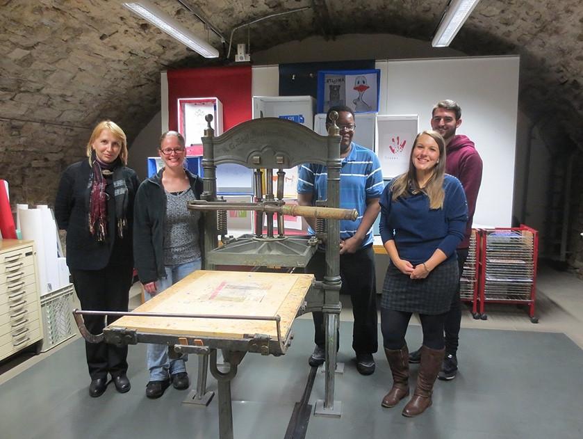Svetlana, Cheryl, Brian, Zsanett und James im Kunstmuseum Spendhaus