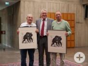 Empfang im Rathaus - Alain Cariteau, Bürgermeister Robert Hahn, Uwe Gröning