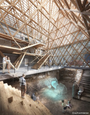 Blick in den geplanten Neubau